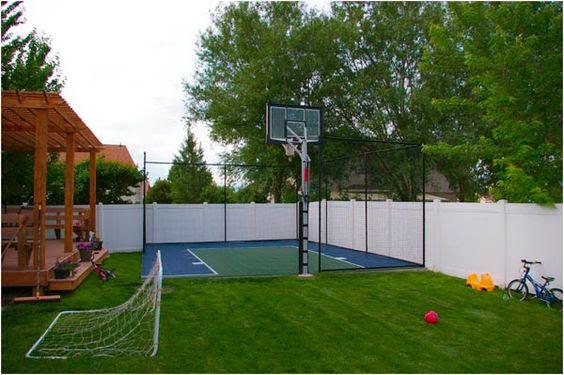backyard basketball court ideas 21