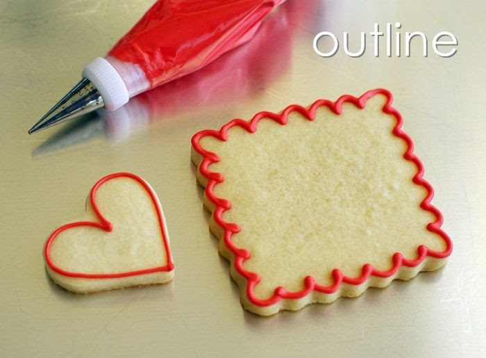how to make Double-decker, Stripey, Valentine Cookies | bakeat350.blogspot.com