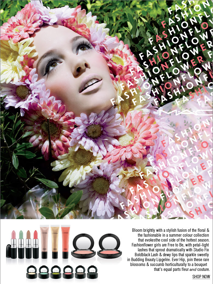 Bloom brightly with a stylish fusion of the floral & the fashionable in a summer colour collection that evokes the cool side of the hottest season. Fashionflower girls are Free to Be, with petal-light lashes that sprout dramatically with Studio Fix Boldblack Lash & dewy lips that sparkle sweetly in Budding Beauty Lipgelée. Ever Hip, join these rare blossoms & succumb horticulturally to a bouquet that's equal parts fleur and couture.