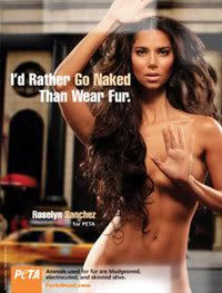 Roselyn Sanchez doing nudesy for a PETA ad.