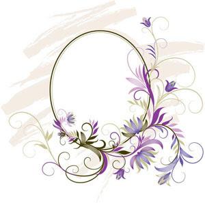Gambar Bingkai Bunga Ungu - Gambar Bunga