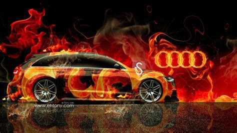 Audi A6 Avant Quattro Fire Car Mika Jumisko 2014 Wallpapers   el Tony