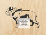 Bulldog On Leash Scrollsaw Woodworking Pattern - fee plans from WoodworkersWorkshop® Online Store - bulldogs,pets,animals,yard art,painting wood crafts,scrollsawing patterns,drawings,plywood,plywoodworking plans,woodworkers projects,workshop blueprints