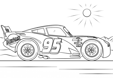 Lightning Mcqueen Coloring Page Free Printable Indoor Outdoor