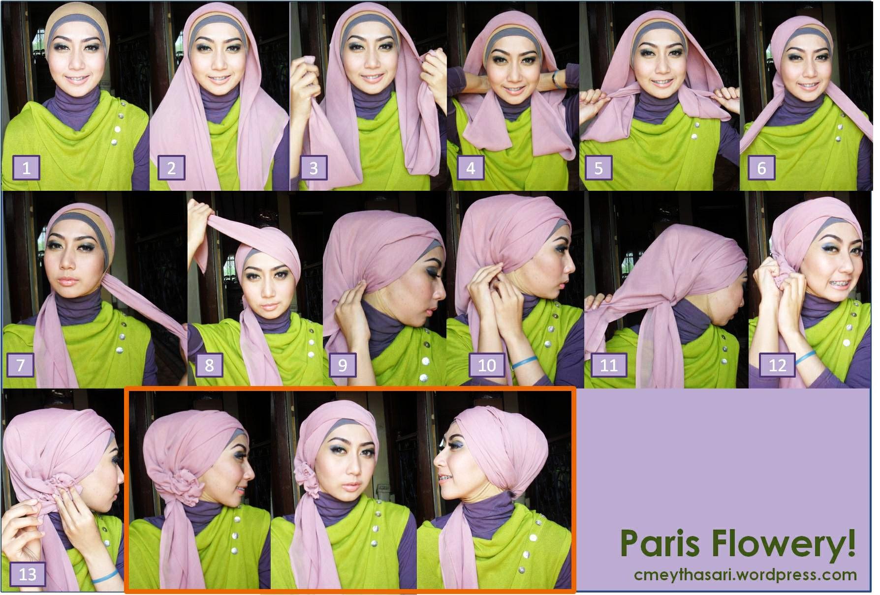 Tutorial Hijab Terbaru Oktober 2014