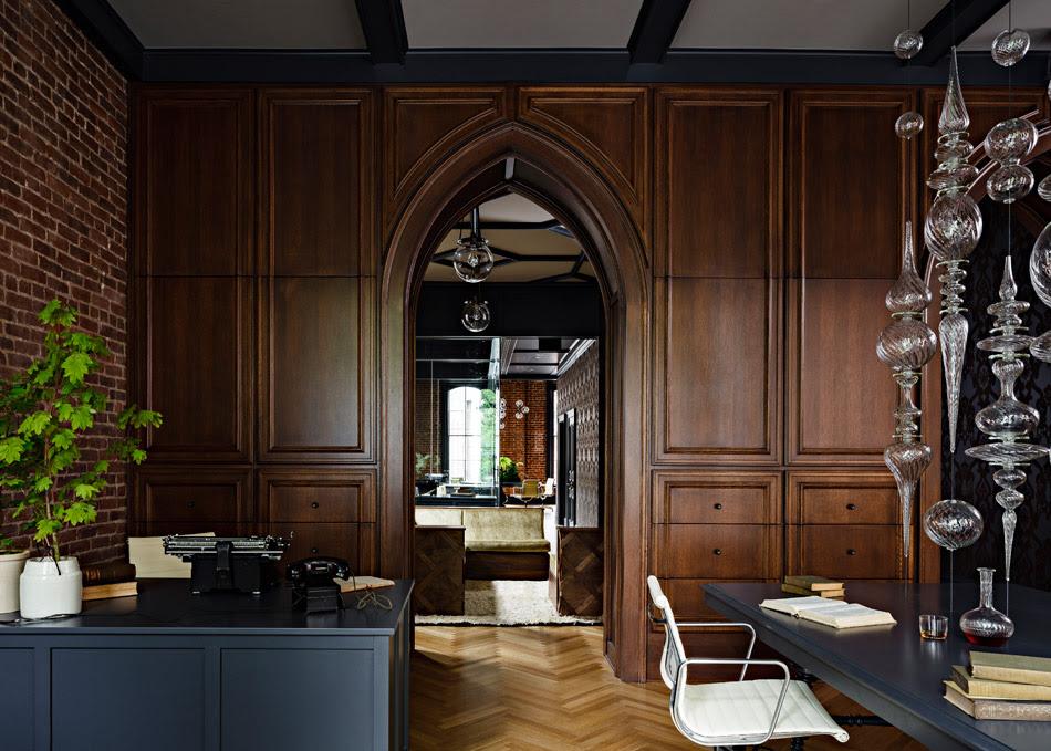 Jessica Helgerson Interior Design Gothic Office 6