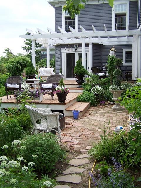 ARBOR HOUSE LANE: Flowers on the Deck