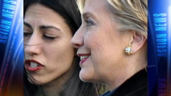 Pictured: Huma Abedin and Hillary Clinton