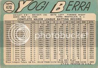 #470 Yogi Berra (back)