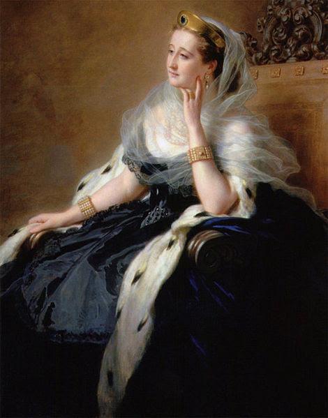File:L'impératrice Eugénie en robe de cour, 1862, Franz Xaver Winterhalter (detail).jpg