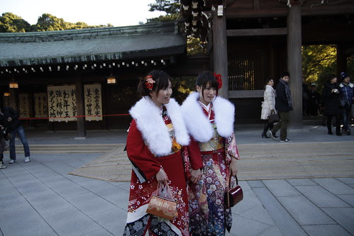 A pair of young women in kimono 2