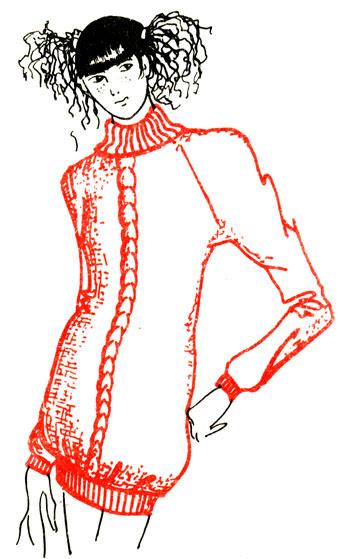 Рис. 89. Платье-свитер