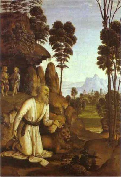 File:St Jerome in the wilderness - Pietro Perugino.jpg