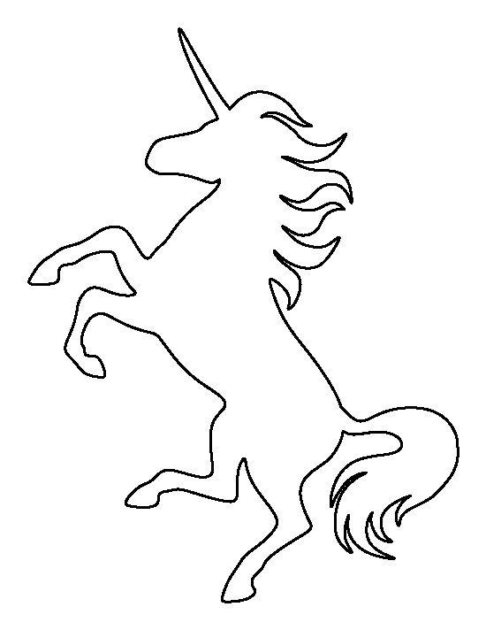 Printable Unicorn Stencil