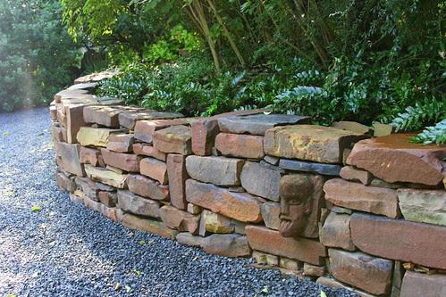 hobbit house rock wall