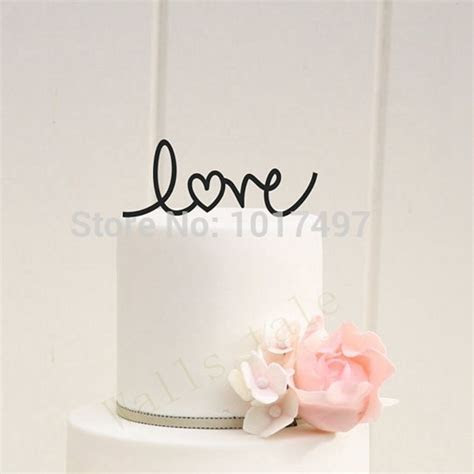 wedding cake decor LOVE with Heart Wedding Cake Topper