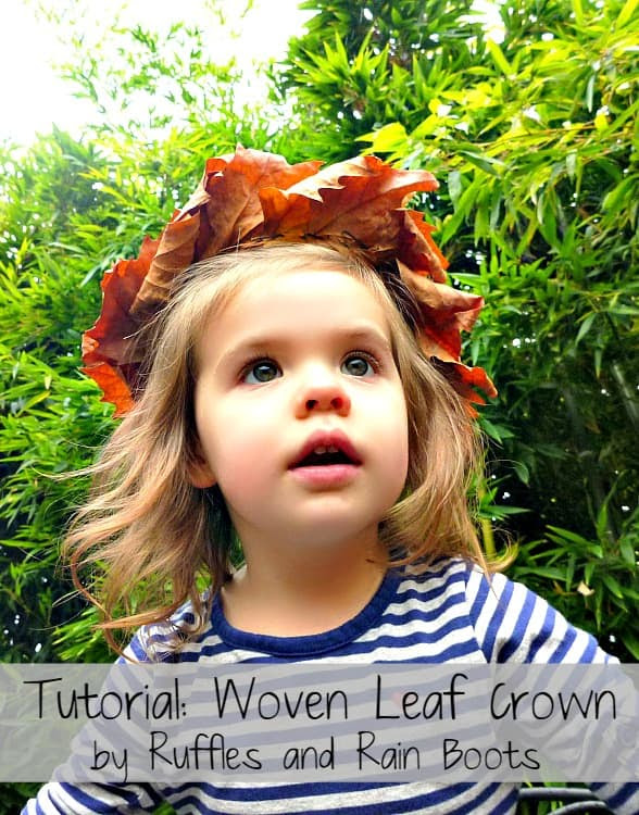 Leaf Crown Tutorial | RufflesandRainBoots.com