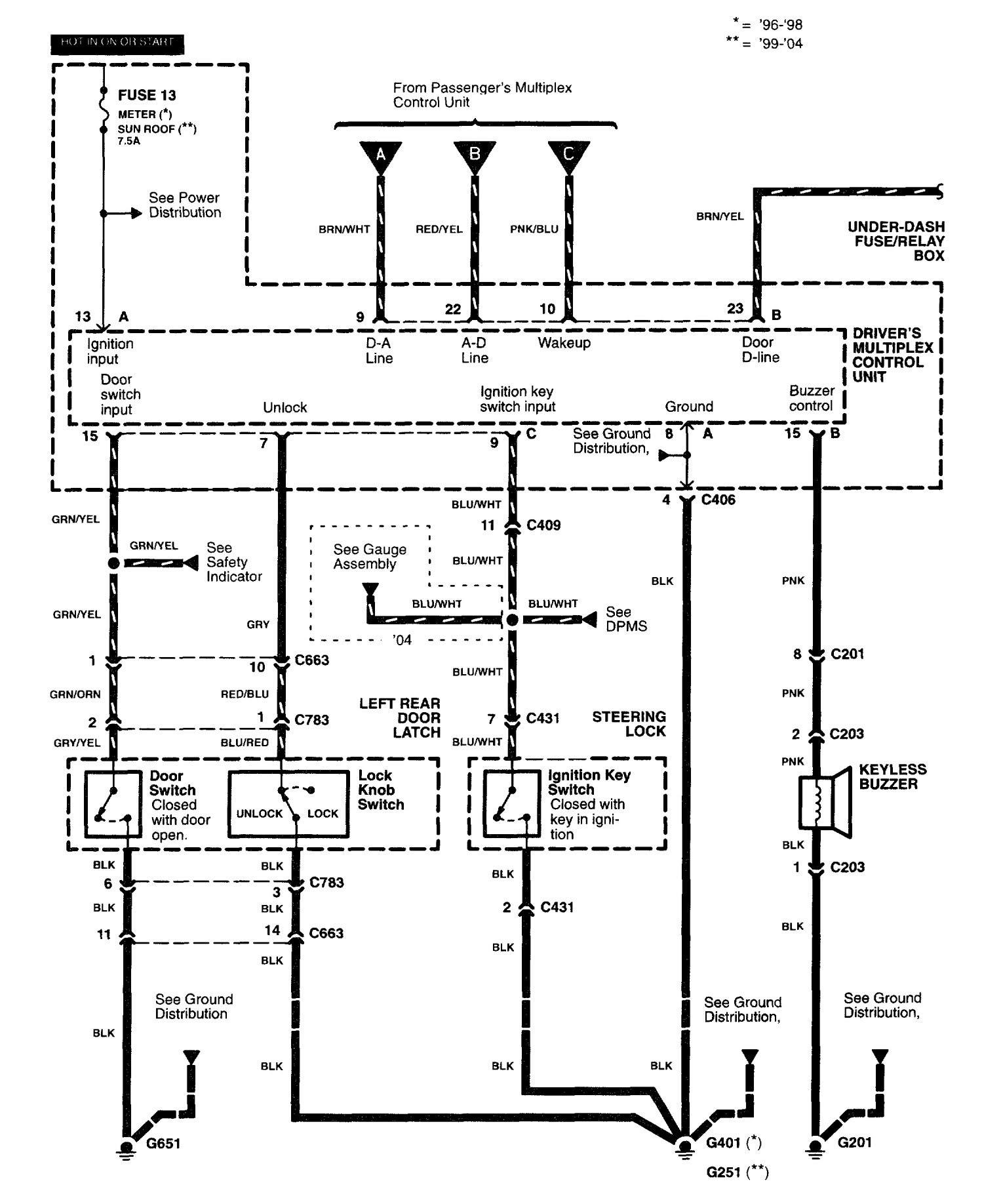 2003 Acura Rsx Wiring Diagram Schematic