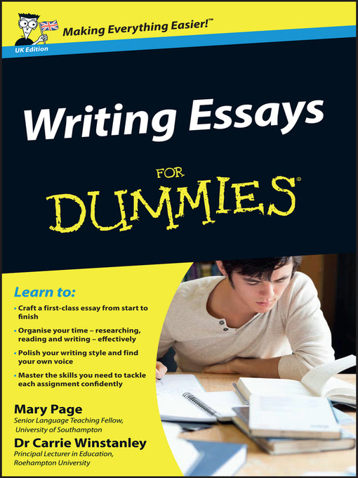 Oct 13, · Writing Essays for Dummies: Helpful Advice to Consider From Students.What is the first thing you do when you write?You think about a topic to discuss.You have random ideas and cannot focus on the purpose of your paper.You know the theory, but it .