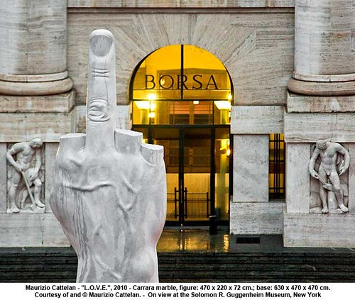 "Maurizio Cattelan - ""L.O.V.E."", 2010 by artimageslibrary"