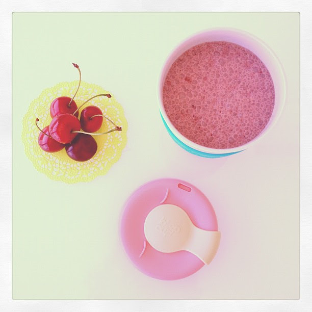 Chocolate and cherry smoothie