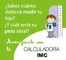 calculadora de peso y talla niñas
