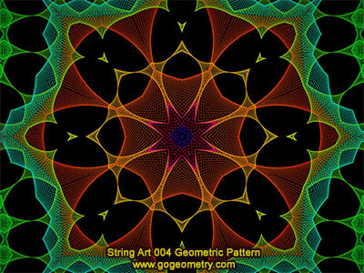 String Art 04: Bézier curves, Geometric Pattern, Symmetry, Software.