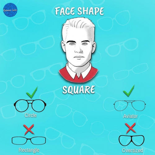 How To Choose Eyeglasses For Square Face Shapes Eyewearlabs Com