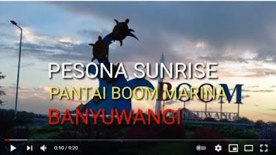 PESONA PANTAI BOOM MARINA BANYUWANGI, SUN RISE YANG SUNGGUH INDAH