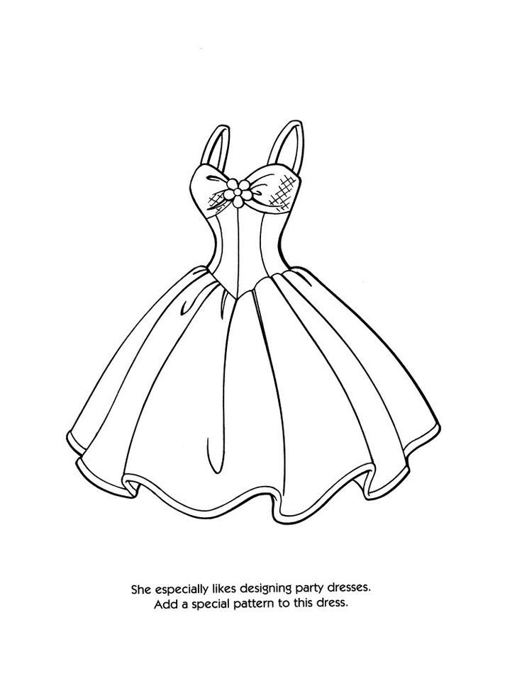 Download Printable Coloring Pages OF FASHION CLOTHING - Coloring Home