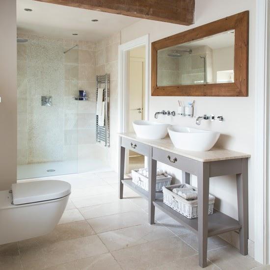Modern Bathroom Design Ideas 2014: Nice CountryTouches In Modern Bathroom And Kitchen
