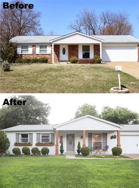 painted brick home exterior makeover    ideas