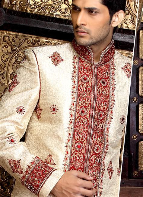 Latest Sherwani designs for men 2012   Groom Dresses