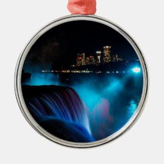 Niagara Falls at night Metal Ornament