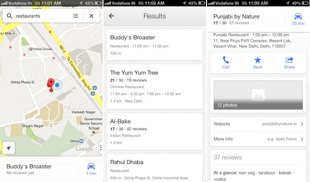 Google Maps For Ios Now Supports Local Search Address
