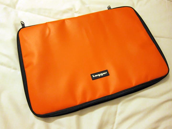 orange laptop pouch