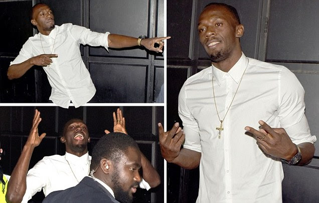 Usain Bolt enjoys night out on the town as victory in London sets up box-office clash with