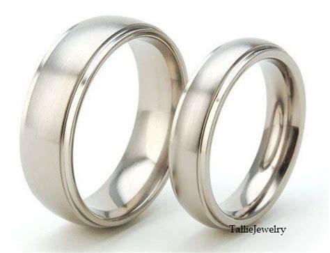 His & Hers Wedding Rings,Matching Wedding Bands,14K White