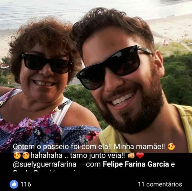 Felipe matou a mãe após surto na Zona Sul de SP, segundo polícia (Foto: Reprodução/Facebook)