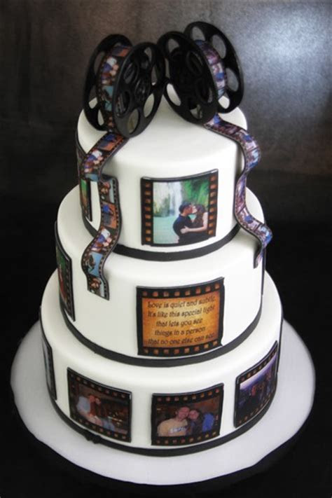 Film Reel Wedding Cake   Butterfly Bake Shop in New York