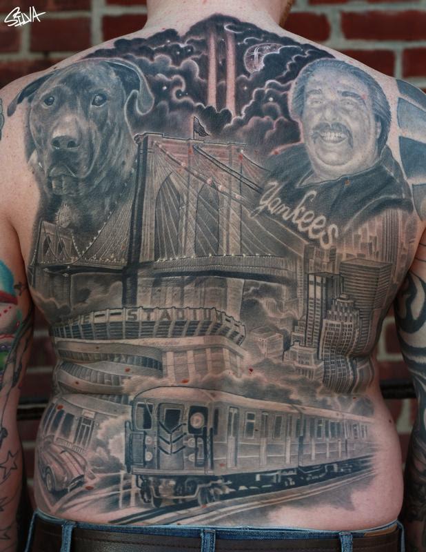 New York Back Tattoo By Marvin Silva Tattoonow