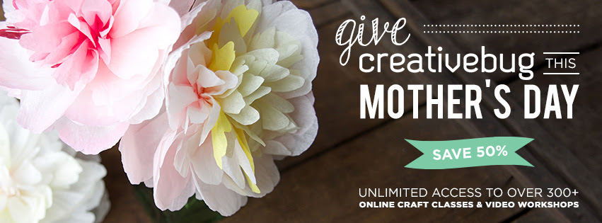 50% off Creativebug for Mothers Day