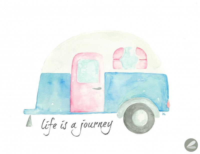 Life is a Journey  Camper Printable Art