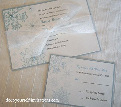 Printable Snowflake Wedding Invitations Template. Print