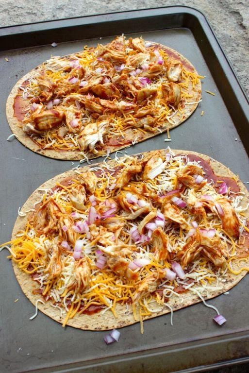 High Protein BBQ Chicken Flatout Pizza