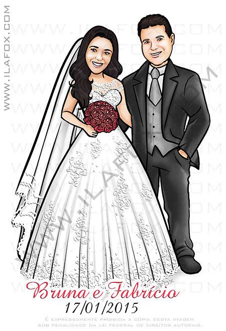 caricatura personalizada, caricatura noivos, caricatura casal, caricatura sem exageros