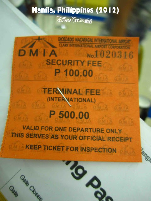 Day 7 - Philippines Airport Terminal Fee