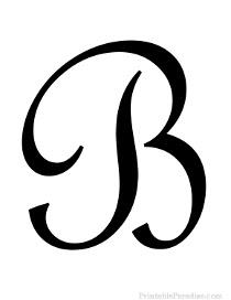 B In Cursive Etics And Etiquette   Boory