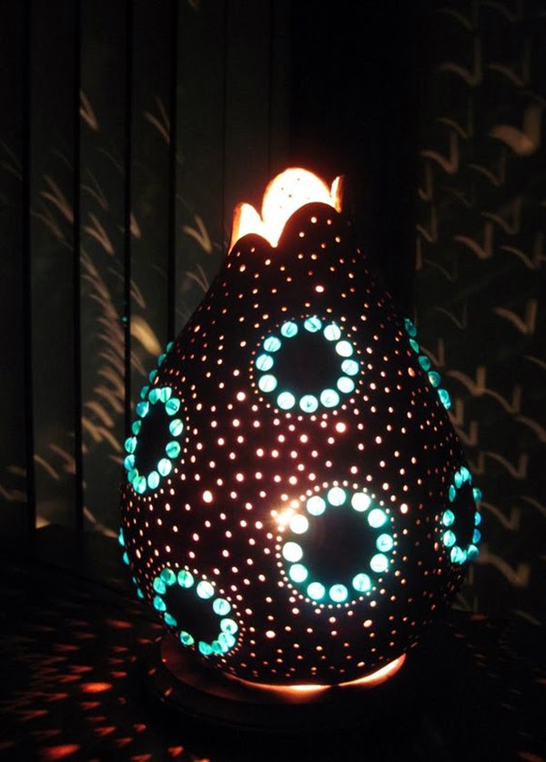 Amazing Art Inspired Gourd Lamps (5)