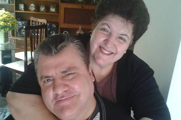 Gerson Brenner com a esposa Marta. Foto: Facebook